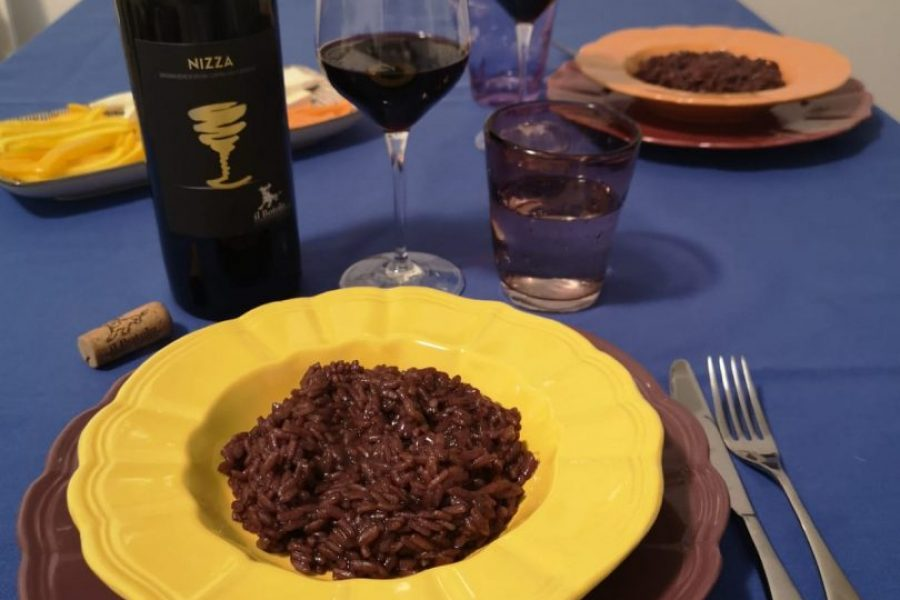 Risotto with Nizza Docg